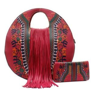 Handbags - Fuchsia purse & wallet